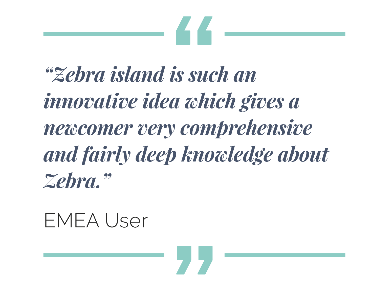 is such an innovative idea wich gives a newcomer very cohomprensive and knowledge about Zebra